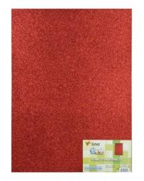 RBE 504 Lino Eva 50X70cm. Kırmızı 2mm. Simli