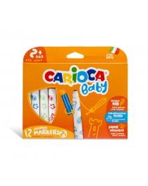 Carioca Baby Jumbo Süper Yıkanabilir Keçeli Boya Kalemi 12'li