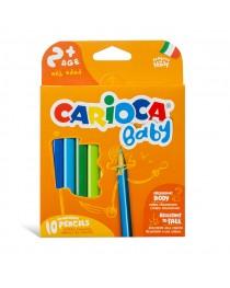 Carioca Baby Jumbo Üçgen Kuru Boya Kalemi 10'lu