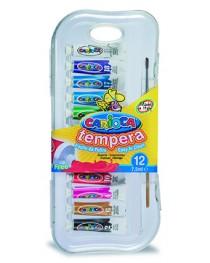 Carioca Tempera Guaj Boya Tüpte Süper Yıkanabilir 12X7,5 Ml. Fırçal